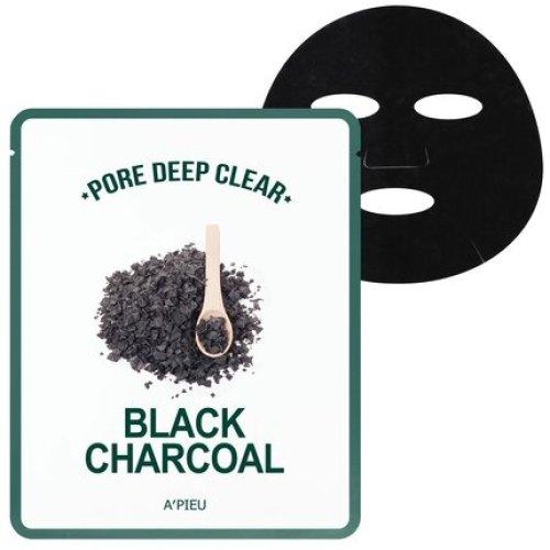 A'PIEU- Mască tip servetel cu extract de cărbune negru, Pore Deep Clear Black Charcoal Mask